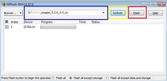 Прошивка Xiaomi в режиме fastboot - скриншот 7