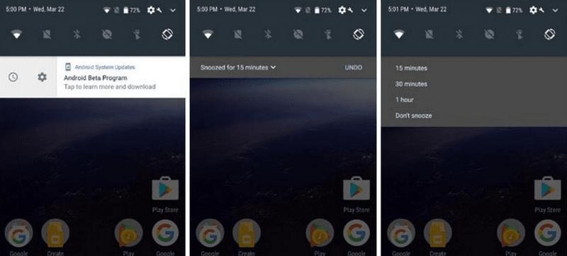 Отличия андроид 7 и 8 - быстрые уведомления