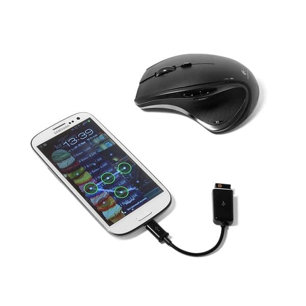 Подключение беспроводной WI-Fi мыши через OTG кабель