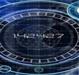 Radar Digital Clock живые обои