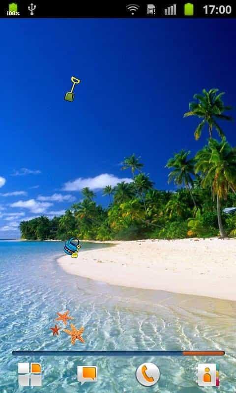 Пляж живые обои