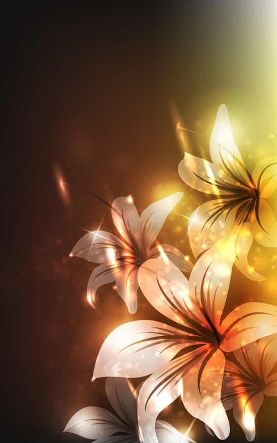 Светящиеся Цветы Live Wallpaper