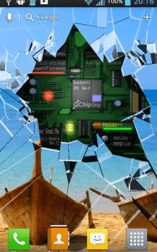 Cracked Screen 3D Parallax