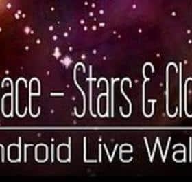 Space! Stars & Clouds 3D XL Live Wallpaper