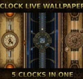 5 Clocks live wallpaper