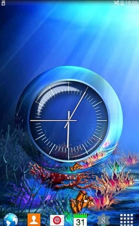Clock Coral Reef живые обои