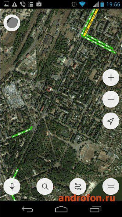 Интерфейс приложения «Яндекс.Карты».