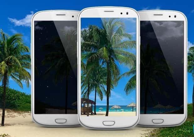 Beach Palms 3D Live Wallpaper