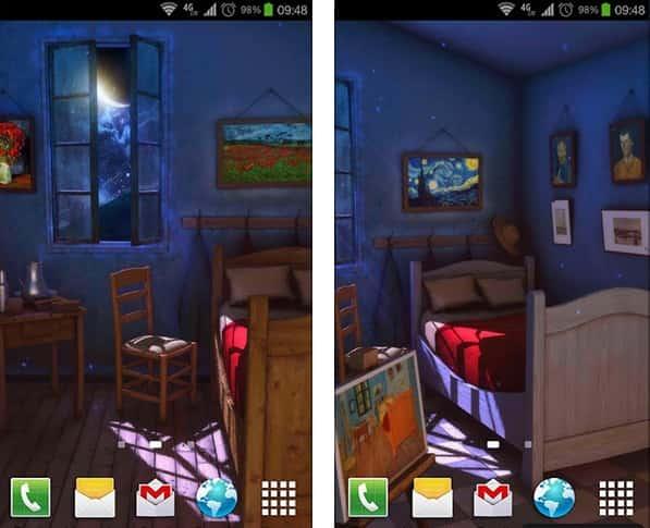 Art Alive: Night 3D Live Wallpaper