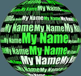 Мое имя в 3D