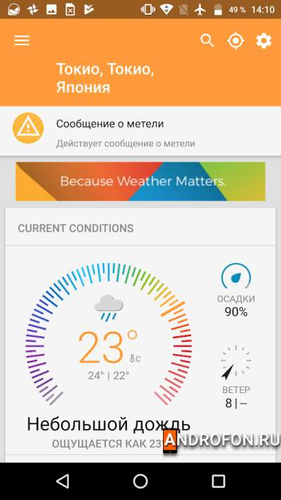 Погода Weather Underground.