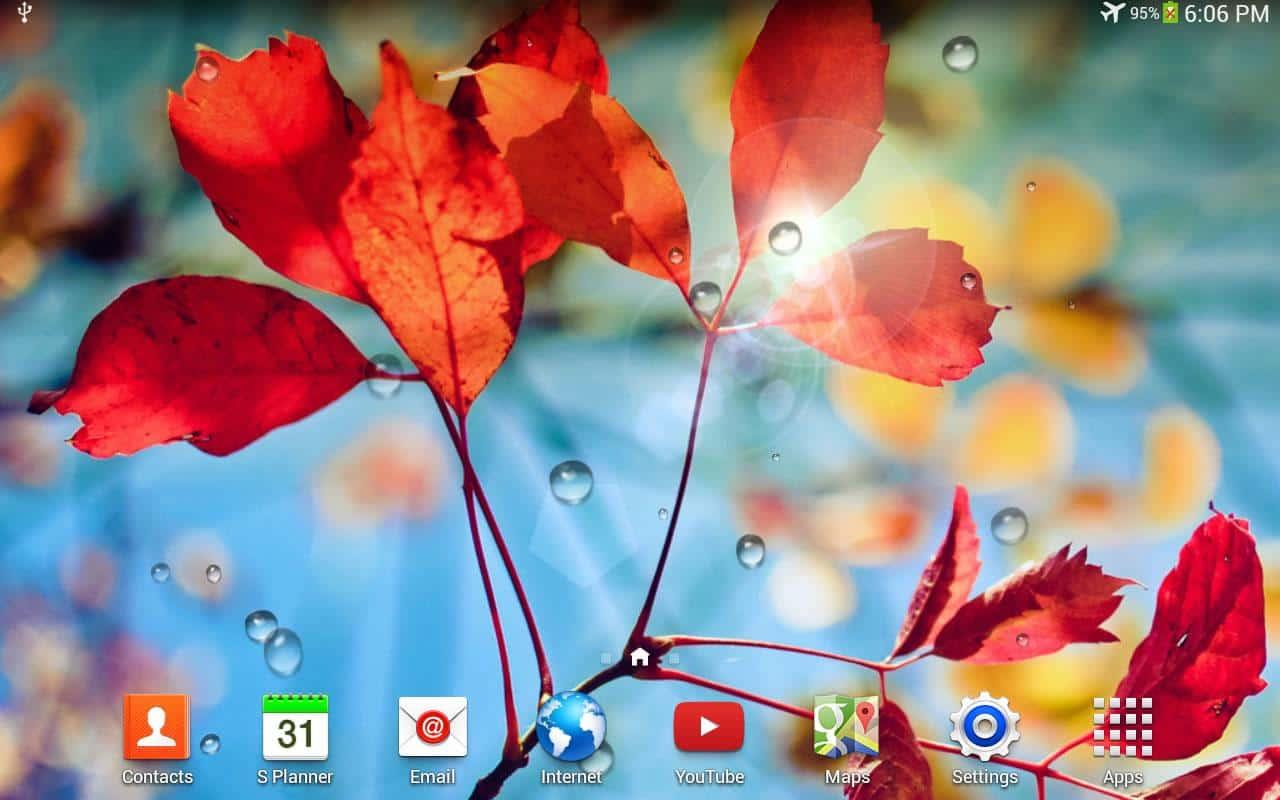 Galaxy S4 Rain скриншот 1