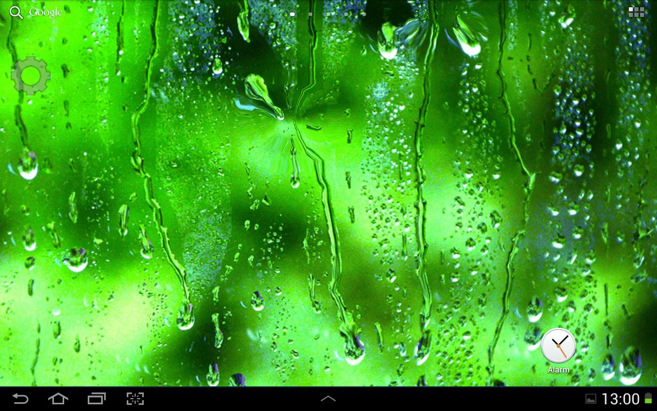 Galaxy S4 Rain Live Wallpaper