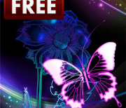 Neon butterfly logo