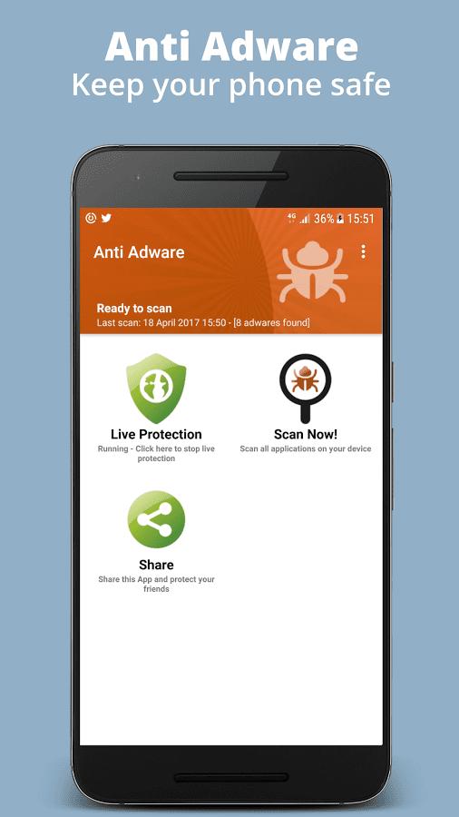 Anti Adware на андроид - скриншот 2