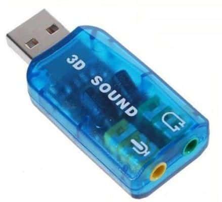 USB звуковая карта.