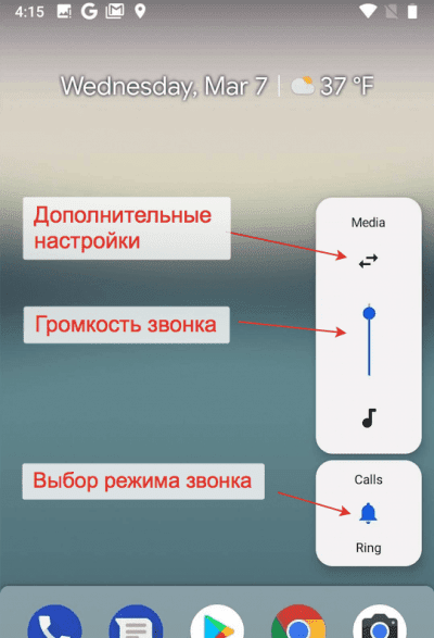 Управление громкостью в Android Pie