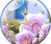 Rose clock logo