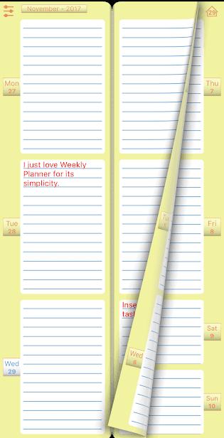 Ежедневник Weekly Planner скриншот 1