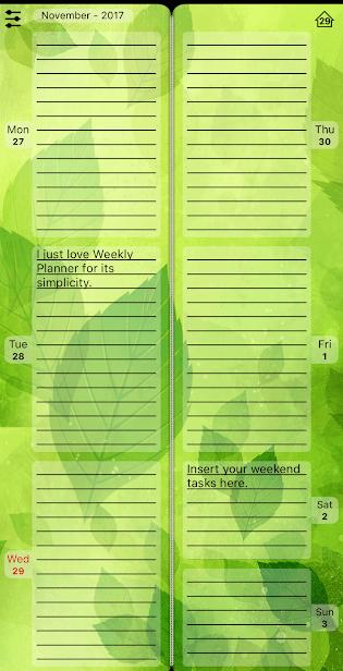 Ежедневник Weekly Planner скриншот 3