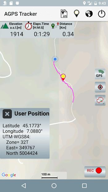 A-GPS Tracker скриншот 1