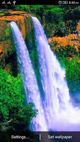 Водопад Живые обои скриншот 1