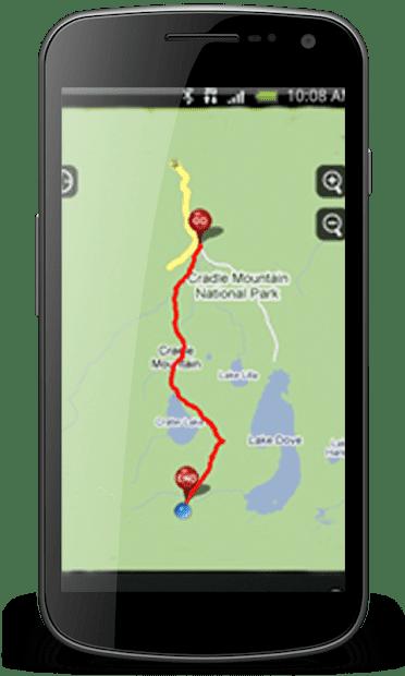 GPS личный маршрут слежения скриншот 2