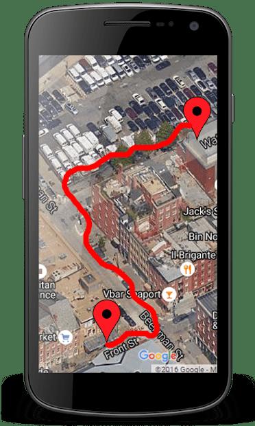 GPS личный маршрут слежения скриншот 3