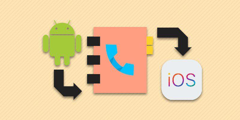 Копирование контактов с Android в iPhone.