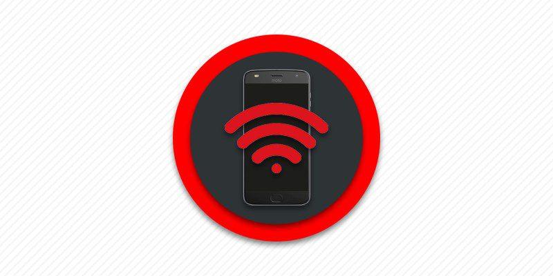 Нет подключения телефона к сточке доступа беспроводного интернета.