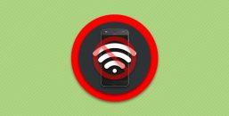 Нет соединения смартфона с беспроводной точкой доступа интернета.