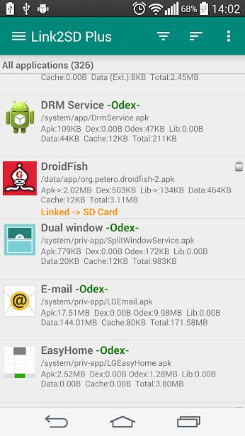 Link2SD скриншот 1