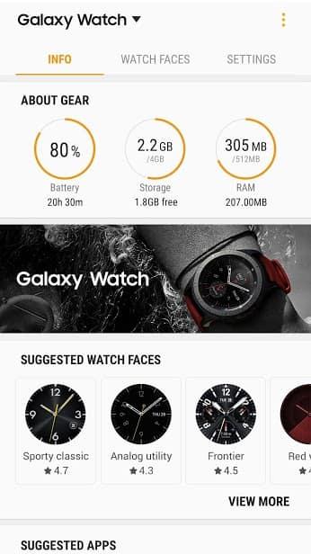 Galaxy Wearable (Samsung Gear) скриншот 3