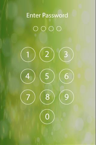 Пароль блокировки экрана скриншот 1