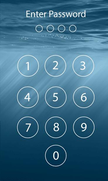 Пароль блокировки экрана скриншот 3