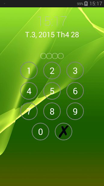 Пароль блокировки экрана скриншот 4