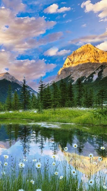 Горы, вода, облака скриншот 2