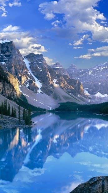 Горы, вода, облака скриншот 3