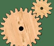 Шестеренки логические пазлы logo