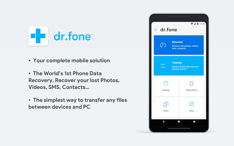 dr.fone - Recovery & Transfer wirelessly & Backup скриншот 1