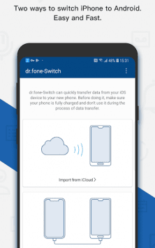 dr.fone - Switch iOS/iCloud contents to Android скриншот 1