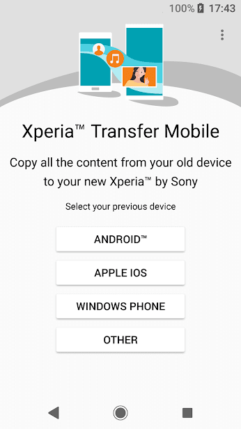 Xperia Transfer Mobile скриншот 1
