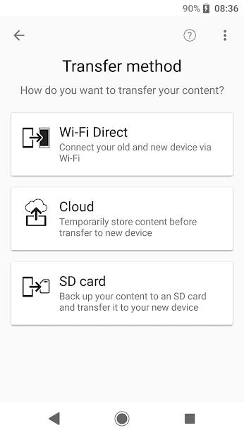 Xperia Transfer Mobile скриншот 2