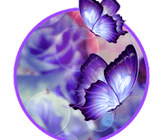 3D Butterfly Flower logo