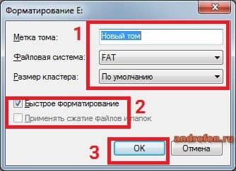 Параметры форматирования.