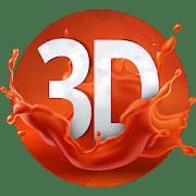 3D обои logo