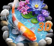 3D рыбки кои logo