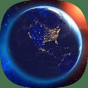 3D Земля и Луна logo