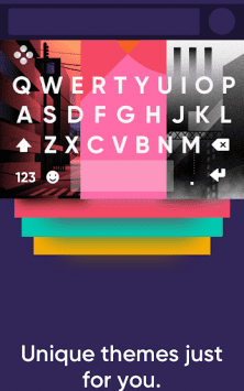 Fleksy клавиатура GIF + emoji скриншот 2