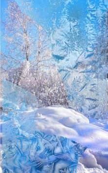 Зима Снег падает скриншот 1